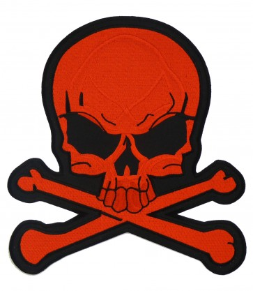 Skull & Crossbones Red Patch, Skull Patches