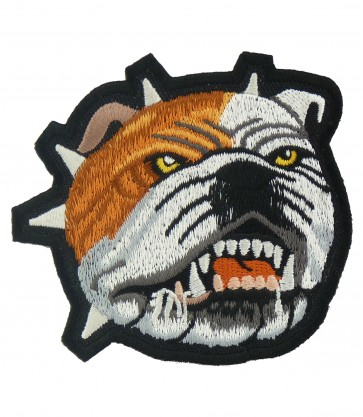 Bull Dog Growling & Teeth Patch, Animal Back Patches