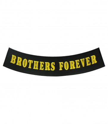 Brothers Forever Gold Rocker Patch, Rocker Patches