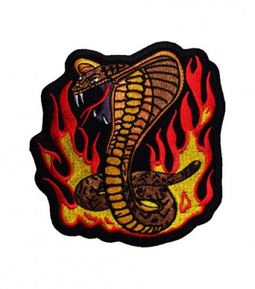Cobra Snake In Flames Patch, Cobra Snake Patches