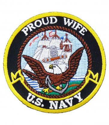 U.S. Navy Proud Wife Patch, Military Patches