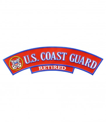 U.S. Coast Guard Retired Logo Rocker Patch, Military Patches