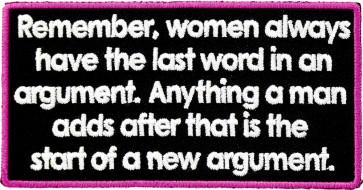 Women Have The Last Word Patch
