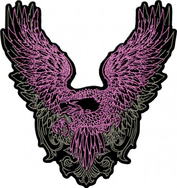 Pink & Grey Subdued Phoenix Eagle Patch