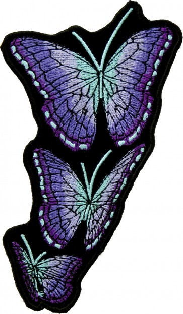 Right Flying Purple Butterfly Patches