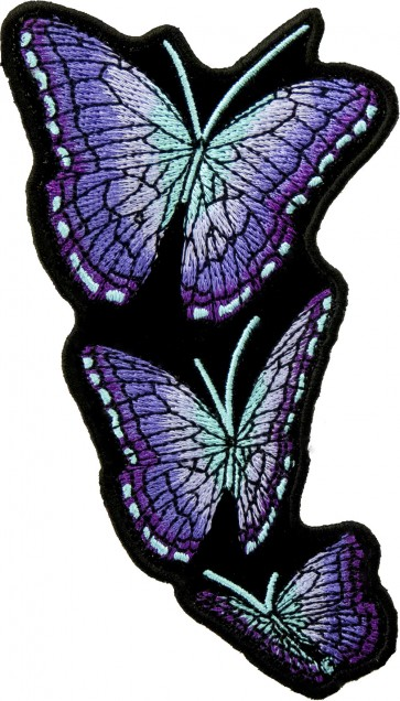 Left Flying Purple Butterfly Patches