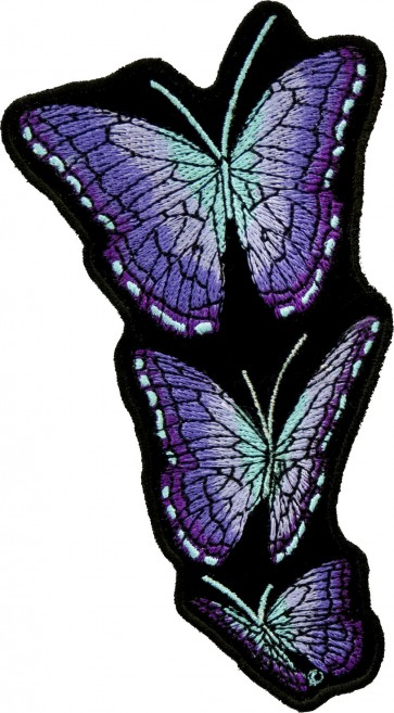 Up Flying Purple Butterfly Patches