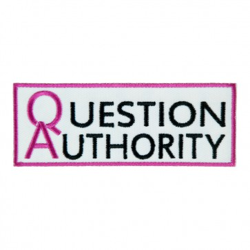 Embroidered Question Authority Patch