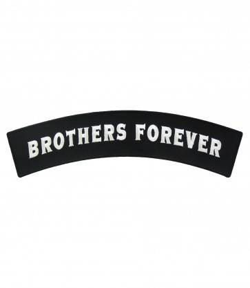 Brothers Forever Black & White Rocker Patch, Rocker Patches