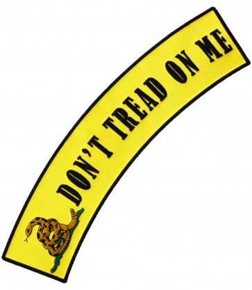 Don't Tread On Me Rocker Patch, Gadsden Flag Patches