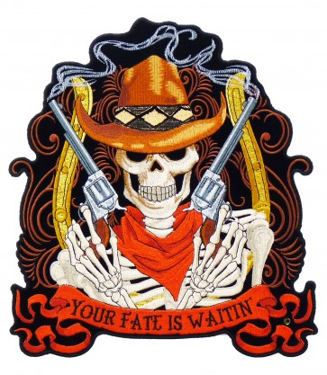Your Fate Is Waitin' Cowboy Guns Patch, Back Patches
