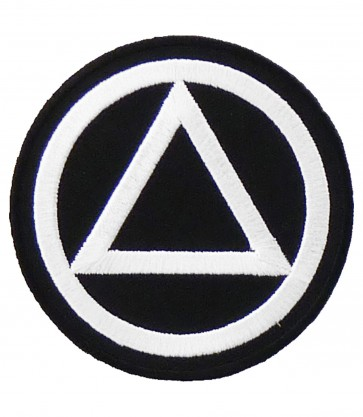 AA Black & White Logo Patch, Recovery & Sobriety Patches