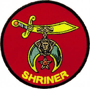 Red SHRINER Crescent & Scimitar Patch