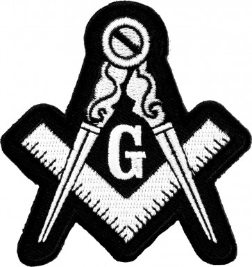 Freemasons Black & White Emblem Patch
