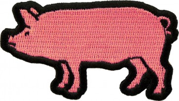 Dark Pink Pig Patch, Pig & Animal Patches