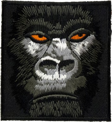 Square Shaped Gorilla Face Patch, Gorilla Patches