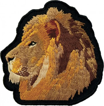 Profile Lion Face Patch, Lion & Jungle Animal Patches