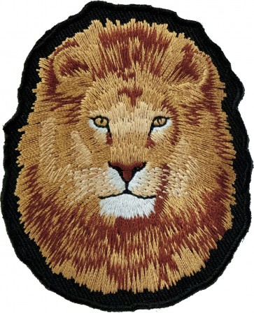Lion Face Close Up Patch, Wild Jungle Animals & Lion Patches