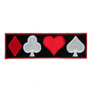 Diamond Club Heart Spade Embroidered Sew On Patch