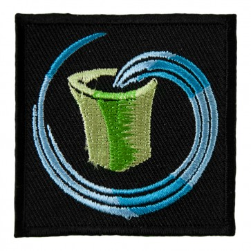 Embroidered Zodiac Aquarius Green Water Carrier Patch
