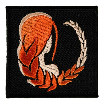 Zodiac Virgo Woman Facing Away Embroidered Patch