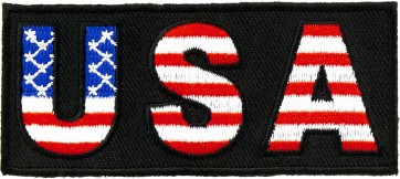 USA American Flag Print Patch