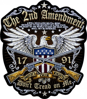 Large 2nd Amendment Patches