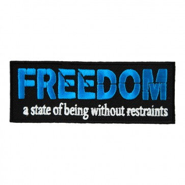 Embroidered Freedom a State Of Being Patch