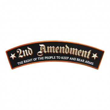 Embroidered 2nd Amendment Tan Stars Sew On Top Rocker Patch