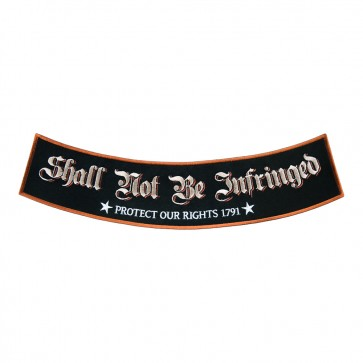 Embroidered Shall Not Be Infringed Stars Sew On Rocker Patch
