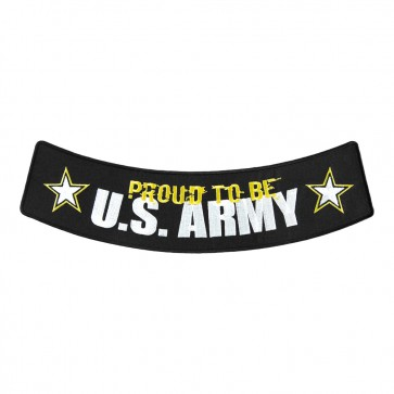 Iron On Proud To Be U.S. Army Embroidered Rocker Patch