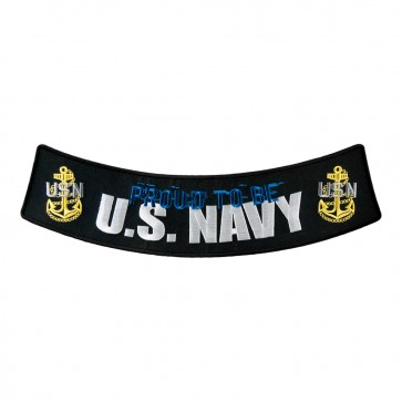 Sew On Proud To Be U.S. Navy Embroidered Rocker Patch