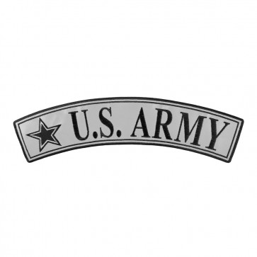Embroidered U.S. Army Reflective Top Rocker Patch
