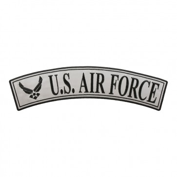 Embroidered U.S. Air Force Reflective Iron On Rocker Patch