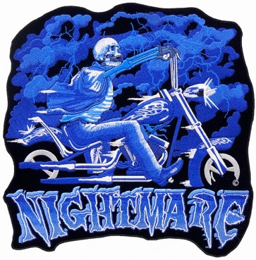 Nightmare Skeleton Motorcycle Patch, Biker Back Patches