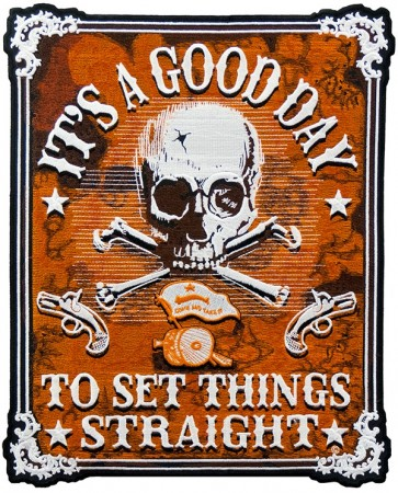 It's A Good Day Skull Patch, Biker Back Patches