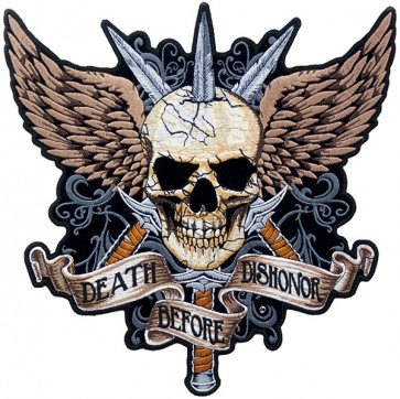 Death Before Dishonor Sword & Skull Patch, Back Patches