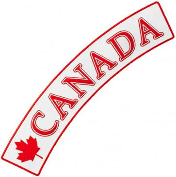 Canada Flag White Rocker Patch, Canadian Patches