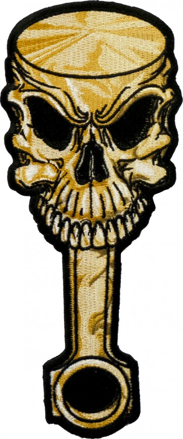 Skull Faced Engine Piston Patch