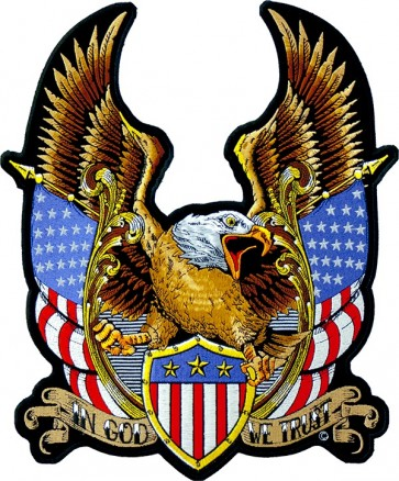 In God We Trust Eagle Patch, Patriotic American Patches