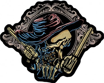 Rustic Cowboy Profile & Western Guns Patch, Gun Back Patches