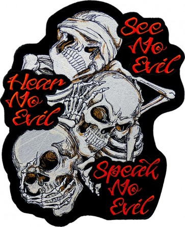 See No Evil Biker Patch