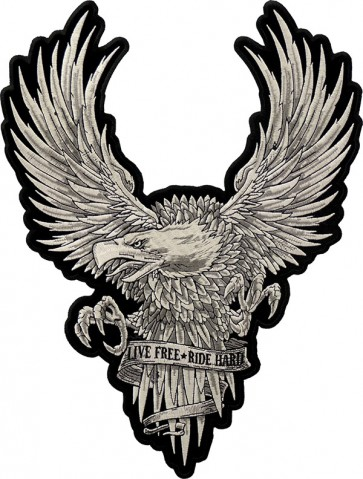 Live Free Ride Free Eagle Patch