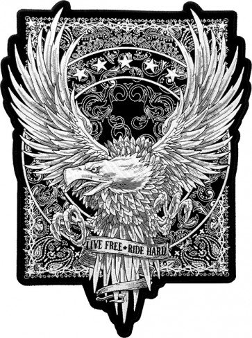 Live Free Paisley Eagle Back Patch