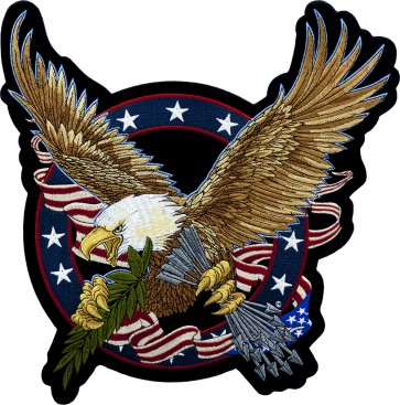 Patriotic American Seal Eagle Back Patch