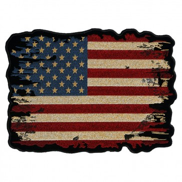 Distressed & Antiqued American Flag Patch
