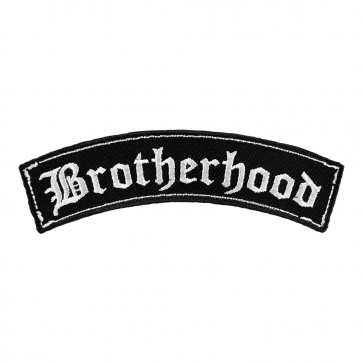 Embroidered Brotherhood Old English Rocker Patch