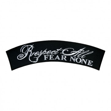 Embroidered Respect All Fear None Iron On Rocker Patch