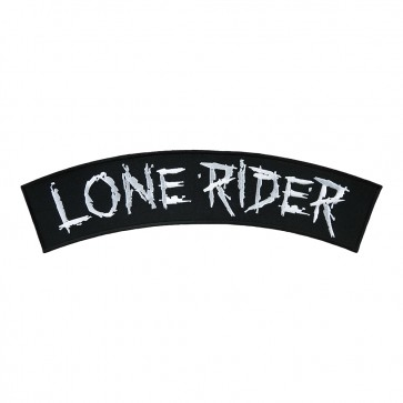 Iron On & Sew On Lone Rider Embroidered Rocker Patch