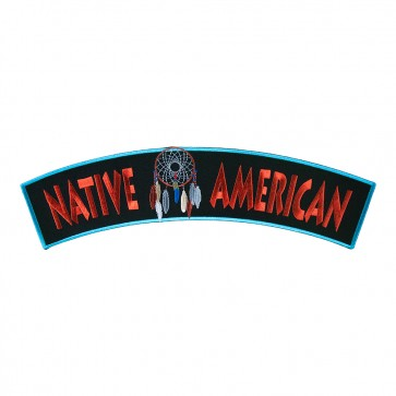 Embroidered Native American Dream Catcher Iron On Rocker Patch